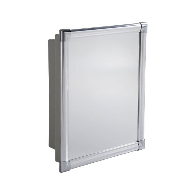 Armário Plástico com perfil de alumínio  Grupo Astra -> Armario Banheiro Astra Aluminio