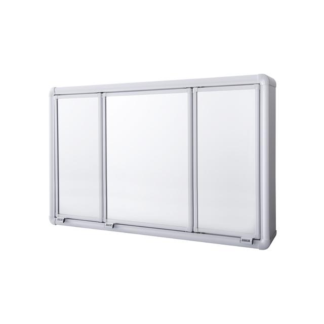 Armário Sobrepor Para Banheiro Astra  3 Portas  73x45x11,  R$ 378,89 em Me -> Armario Banheiro Astra Aluminio