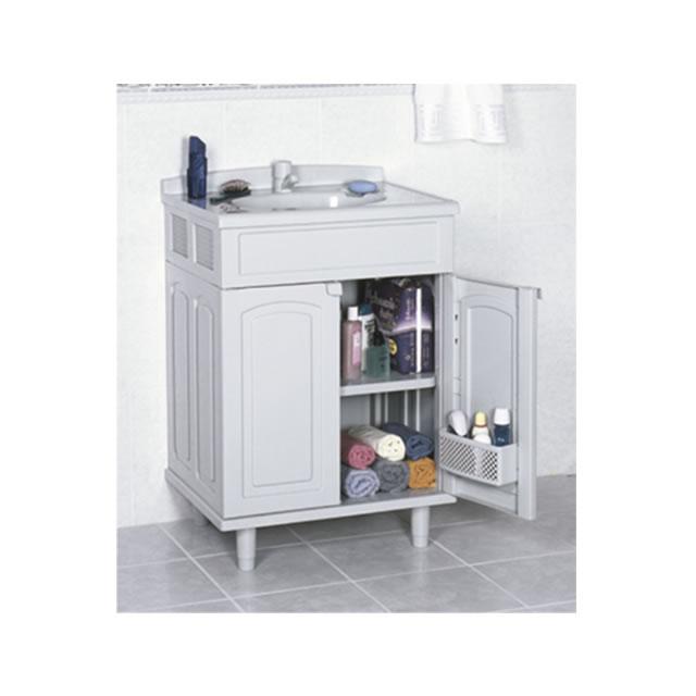 Gabinete Plastico Para Banheiro Gabmax Astra Branco Ccuba  R$ 389,00 em Mer -> Gabinete De Banheiro Astra