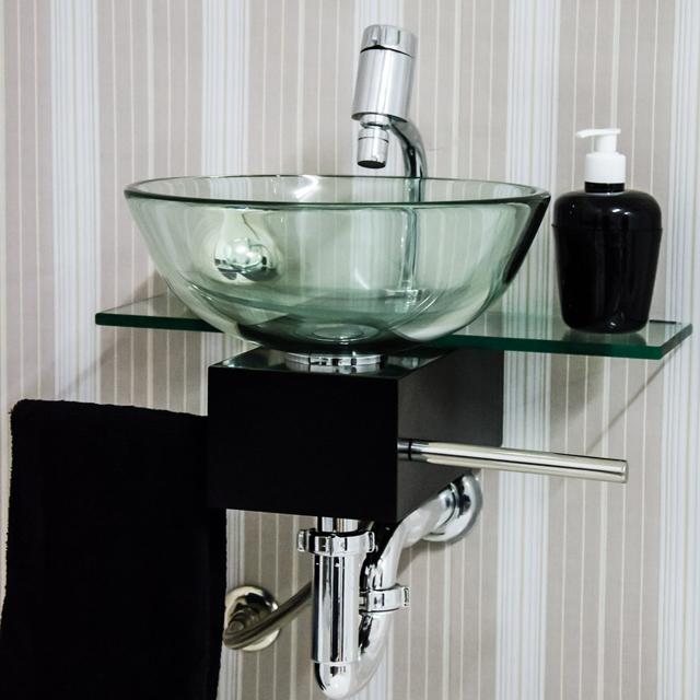 lavatorio de vidro para banheiro 10 -> Gabinete De Banheiro Astra
