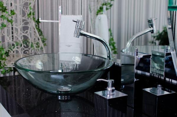 Cubas de vidro para todos os ambientes « Destaques  Grupo Astra -> Cuba Banheiro Transparente
