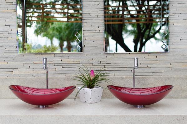 Cubas de vidro para todos os ambientes « Destaques  Grupo Astra -> Cuba Para Banheiro De Vidro Vermelha