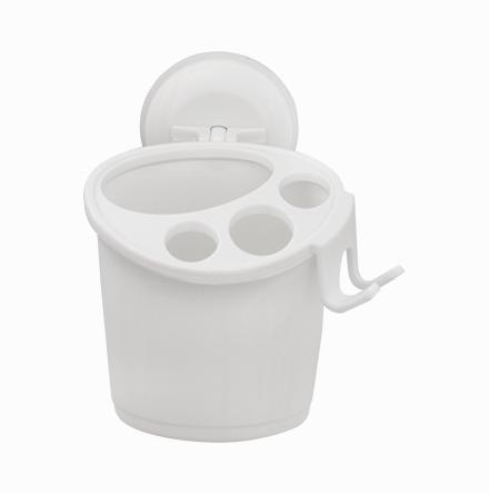 Porta-Escova de Plástico com Ventosa