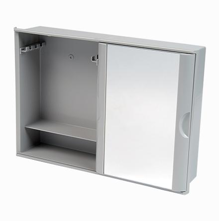Armário Plástico Versátil com Porta de Correr (de Embutir e Sobrepor)