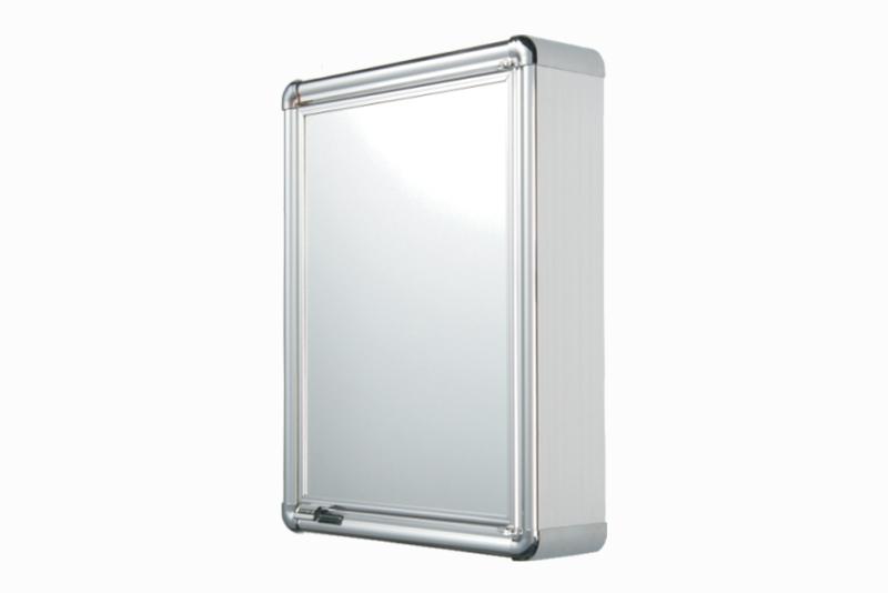 Armário Plástico com Perfil de Alumínio com 1 Porta (de Sobrepor)