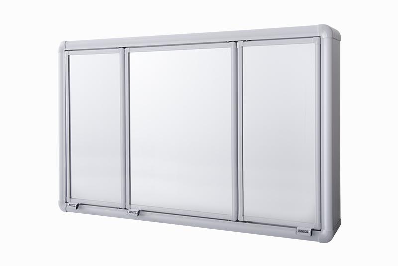 Armário Plástico com Perfil de Alumínio com 3 Portas (de Sobrepor)