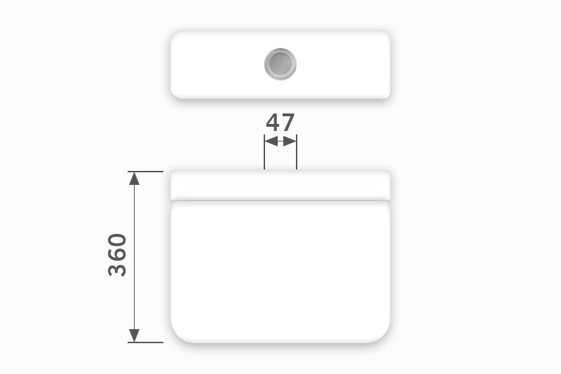 Linha Diamantina - 47 x 360 mm (Acionamento Superior)