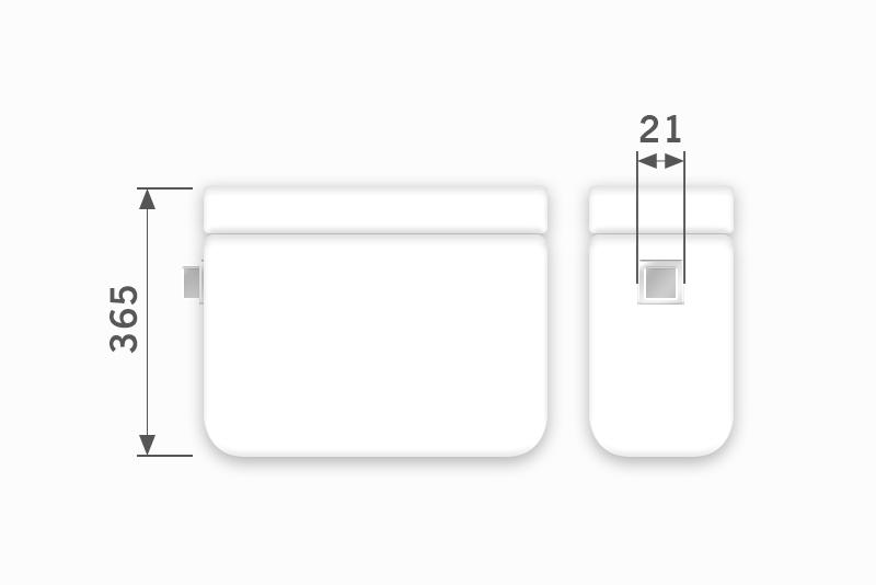Linha Ibiza - 21 x 365 mm (Acionamento Lateral Externo)