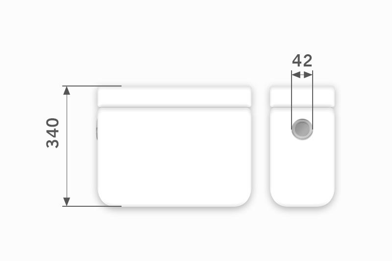 Linha Ibiza -  42 x 340 mm (Acionamento Lateral Embutido)