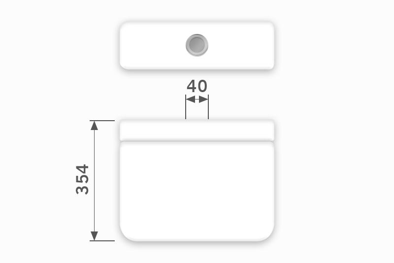 Linha Izy - 40 x 354 mm (Acionamento Superior)