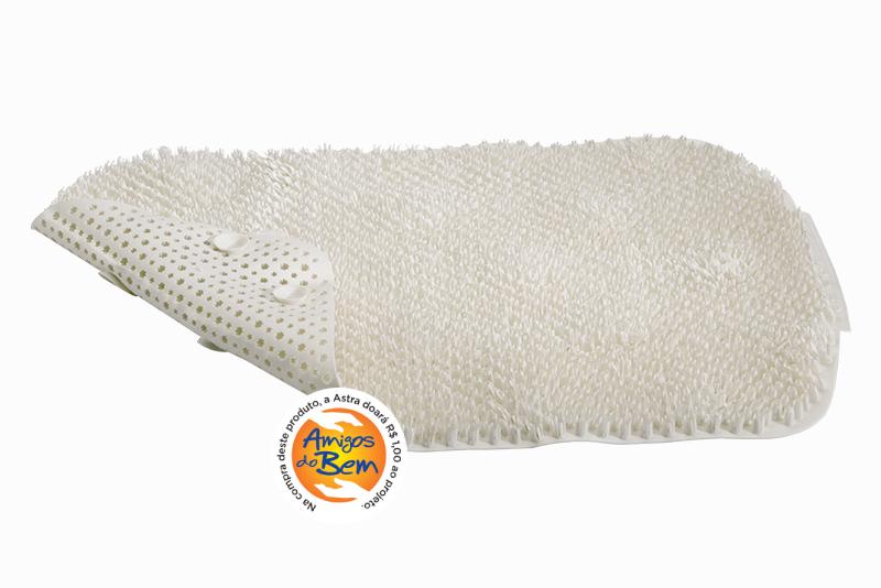 Tapete de Plástico Flexível Felpudo