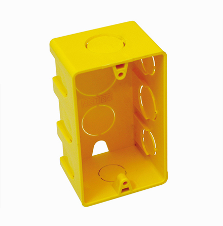 Caixa Elétrica 4 x 2 amarela