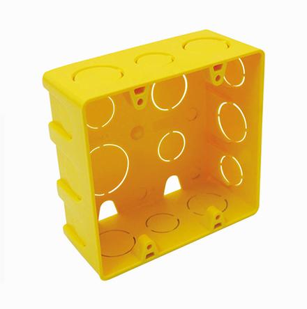 Caixa Elétrica 4 x 4 amarela