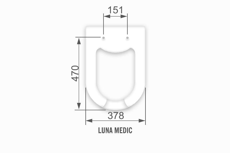 Imagem meramente ilustrativa. Desenho da louça com medidas (código: TLM/MAP).