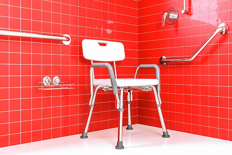 Imagem meramente ilustrativa. Cadeira de banho (código: CB/2) ambientada.