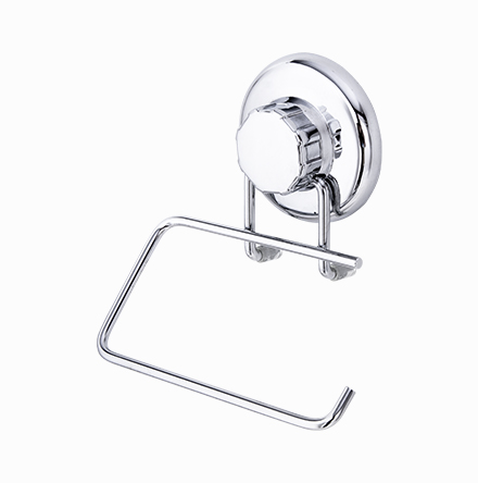 Porta-Papel Higiênico em Aço Inox com Ventosa
