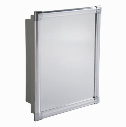Armário Plástico Versátil com Perfil de Alumínio (de Embutir e Sobrepor)
