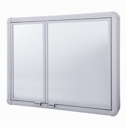 Armário Plástico com Perfil de Alumínio - 2 Portas