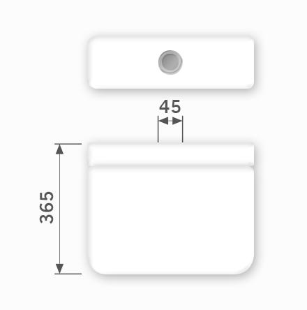 Linha Izy - 45 x 365 mm (Acionamento Superior)