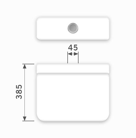 Linha Luna - 45 x 385 mm (Acionamento Superior)