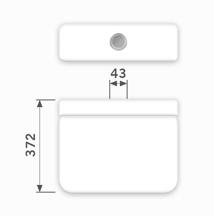 Linha Luna - 43 x 372 mm (Acionamento Superior)