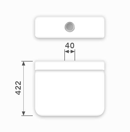 Linha Monte Carlo - 40 x 422 mm (Acionamento Superior)