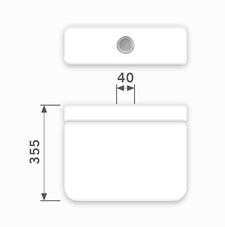 Linha Monte Carlo - 40 x 355 mm (Acionamento Superior)