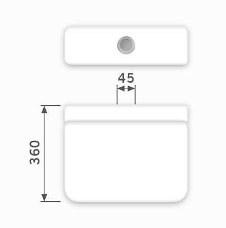 Linha Sabatini - 45 x 360 mm (Acionamento Superior)