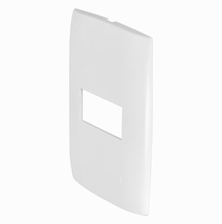 Placa 4x2 con 1 Hueco Horizontal