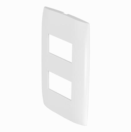 Placa 4x2 con 2 Huecos Horizontales Separados