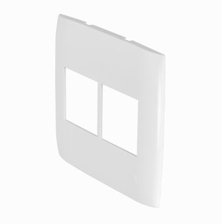 Placa 4x4 con 2 Huecos Horizontales