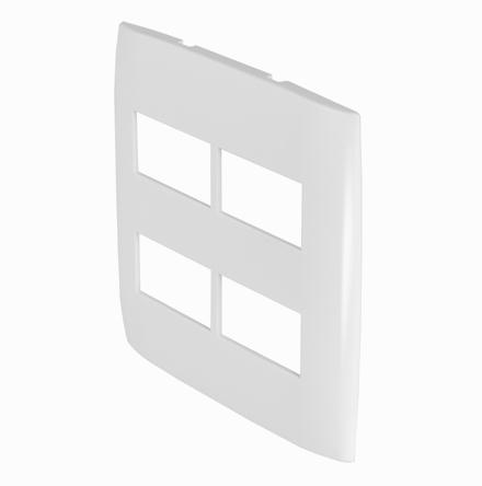 Placa 4x4 con 2 Huecos Horizontales Separados