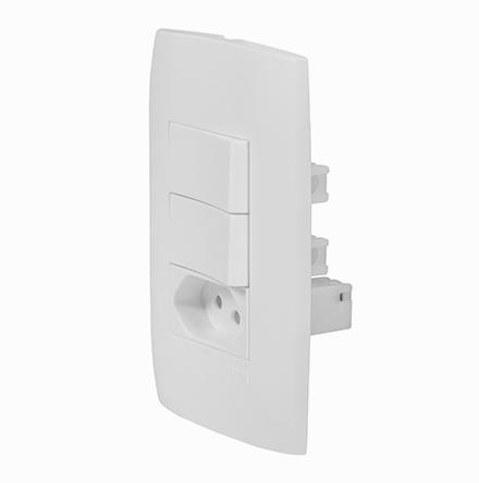 Kit 2 Interruptores Simples + Tom. 10A / 250V