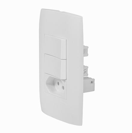 Kit 1 Interruptor Simples + 1 Interruptor Paralelo + Tom. 10A / 250V