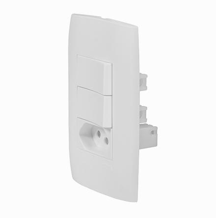 Kit 2 Interruptores Simples + Tom. 20A / 250V