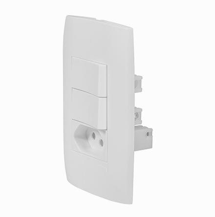 Kit 1 Interruptor Simples + 1 Interruptor Paralelo + Tom. 20A / 250V