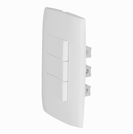 Kit 2 Interruptores Simples + 1 Interruptor Paralelo