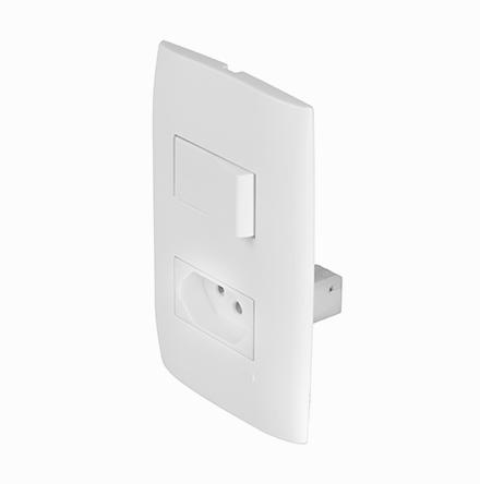 Kit 1 Interruptor Simples + 1 Tom. 10A / 250V