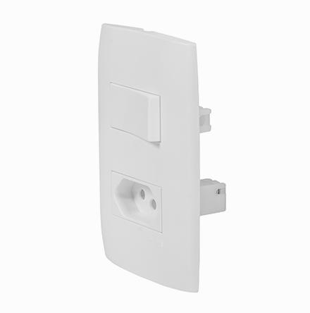 Kit 1 Interruptor Simples + 1 Tom. 20A / 250V