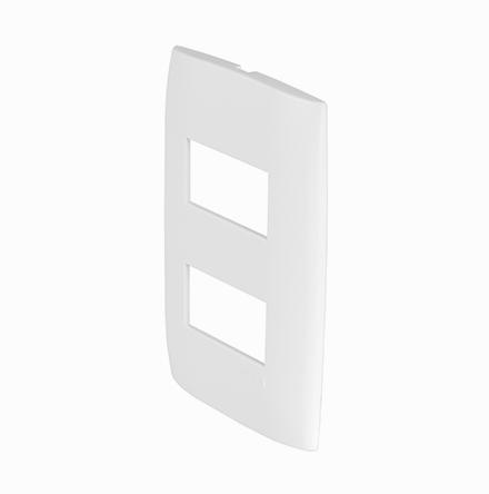 Placa 4X2 com 2 Furos Horizontais Separados