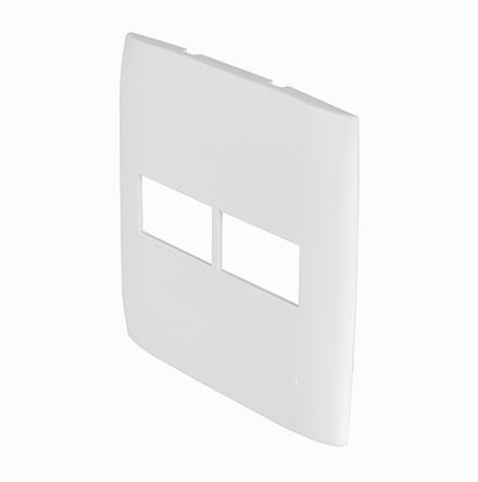Placa 4x4 con 1 Hueco Horizontal