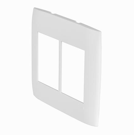 Placa 4x4 con 3 Huecos Horizontales