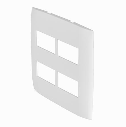 Placa 4X4 com 2 Furos Horizontais Separados