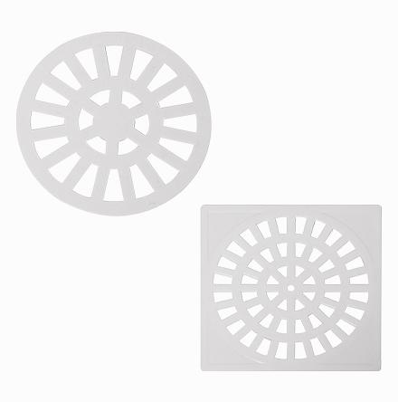 Grelha de PVC branco ou ABS cromado