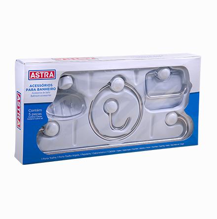 Kit Plástico Cromado (5 peças)